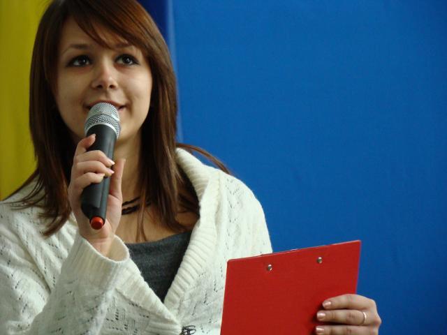Ioana Stupariu, membru al echipei Youthbank
