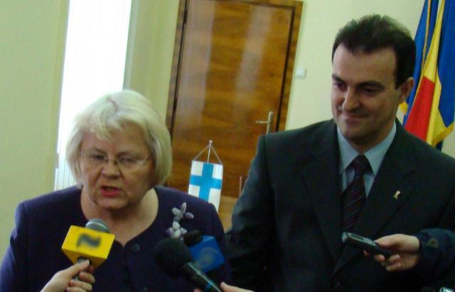 Ambasadorul Finlandei în România, Irmeli Mustonen, s-a întâlnit cu primarul Apostu