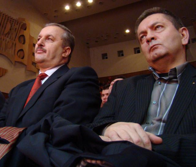 Vasile Dâncu (dreapta) şi Ioan Rus
