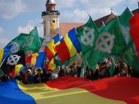 Noua Dreaptă s-a reunit pe străzile Clujului pentru a comemora 160 de ani de la victoria lui Avram Iancu