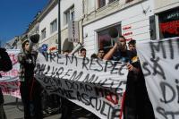Studenţii clujeni au protestat pe străzile municipiului