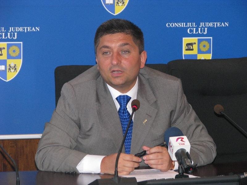 """Preşedintele Consiliul Judeţean Cluj-Napoca, Alin Tişe, a prezentat astăzi macheta viitorului stadion """"Ion Moina"""" şi a celorlaltor obiective care vor fi contruite în zonă"""