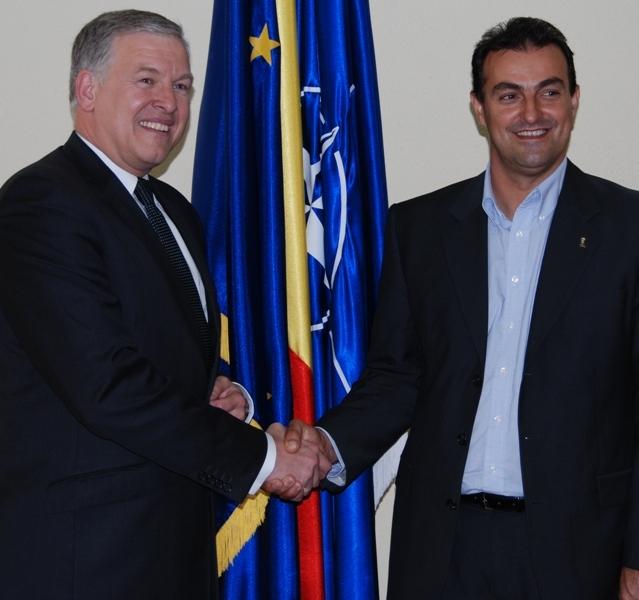 Ambasadorul Austriei, Martin Eichtinger, a venit astăzi la Cluj-Napoca şi s-a întâlnit cu primarul Sorin Apostu