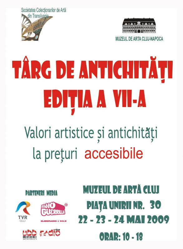 Muzeul de Artă Cluj invită colecționarii din Transilvania la a VII-a ediție a Târgului de Antichități și Arte Plastice