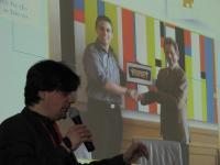 Martin Gaedt, creatorul Younect, susţine o prezentare în faţa seminariştilor Swim