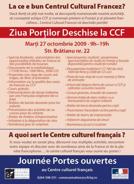 Centrul Cultural Francez oferă burse de studiu