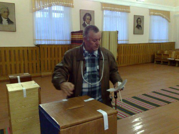 Primul votant la Orhei-Republica Moldova
