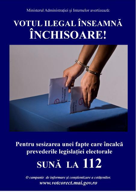 Votul ilegal inseamna inchisoare