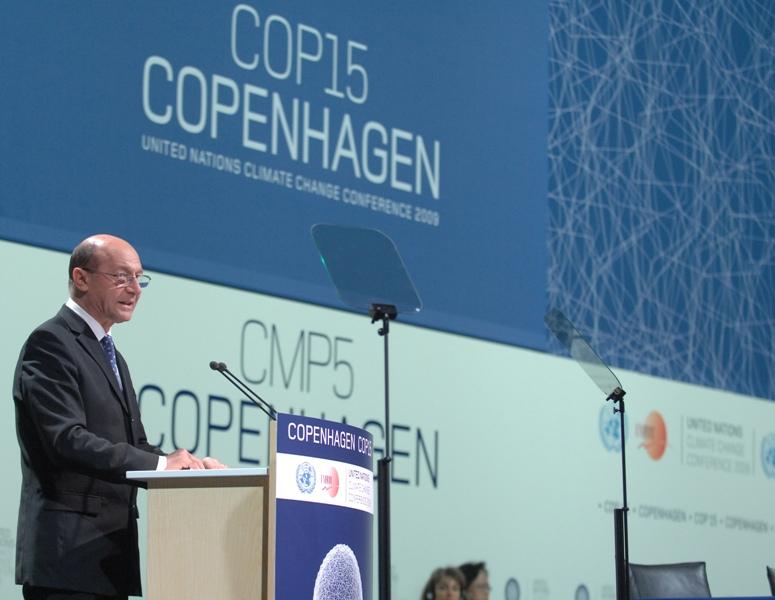 Preşedintele Traian Băsescu la Summitul de la Copenhaga