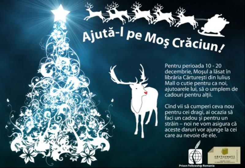Fii ajutorul lui Moş Crăciun în Librăria Cărtureşti!