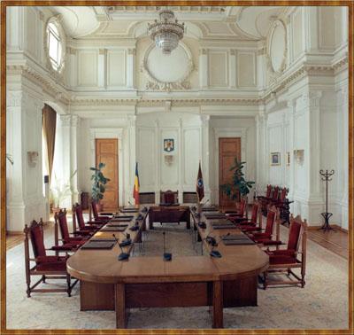 Sala de şedinţe a Curţii Constituţionale