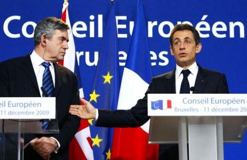 Gordon Brown și Nicolas Sarkozy