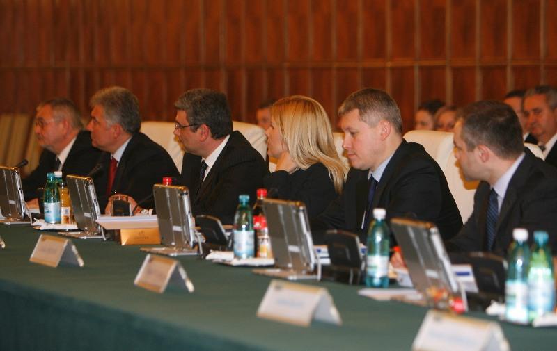 Noul cabinet Boc la prima şedinţă