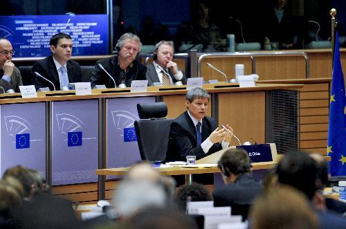 Dacian Cioloș audiat în Parlamentul European