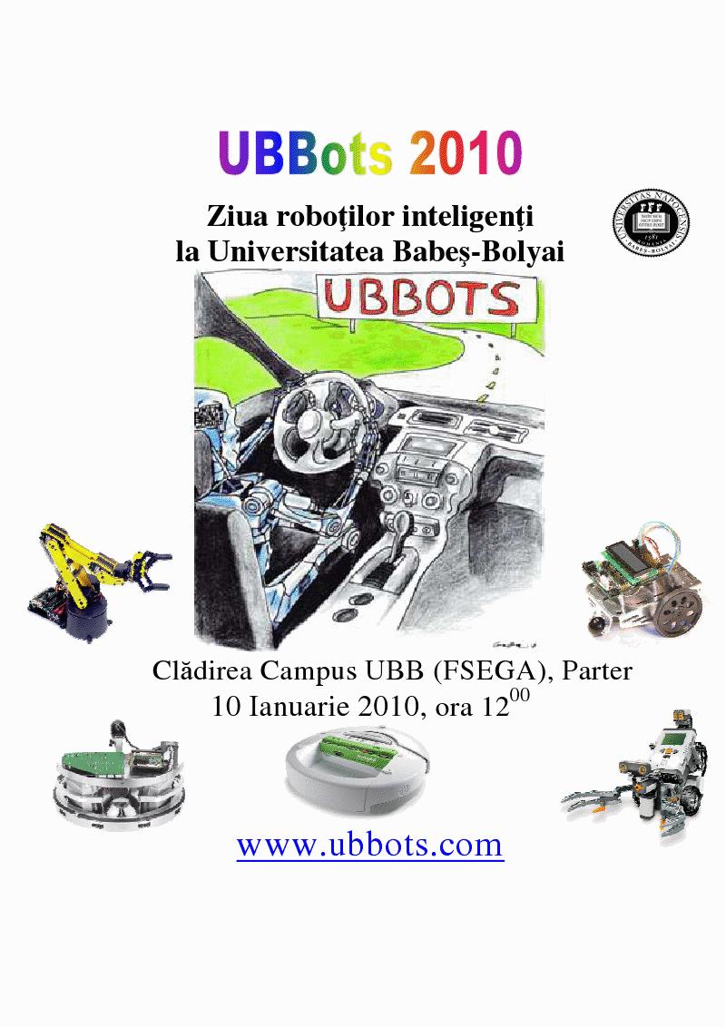 """Facultatea de Matematică şi Informatică din cadrul Universităţii """"Babeş-Bolyai"""" organizează a 3-a ediţie a Zilei Roboţilor Inteligenţi"""