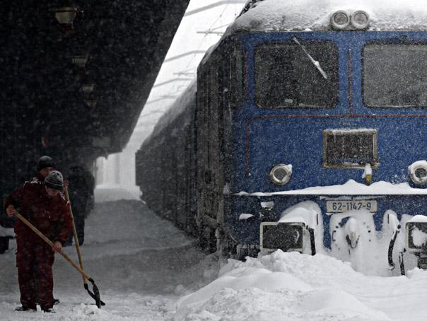 Circulația feroviară perturbată datorită condițiilor meteo