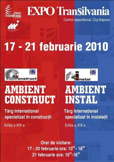 Ambient Construct şi Ambient Instal deschise la Expo Transilvania