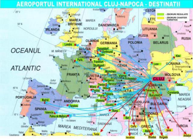 Creste Numărul De Pasageri Pe Aeroportul Internaţional Cluj Napoca