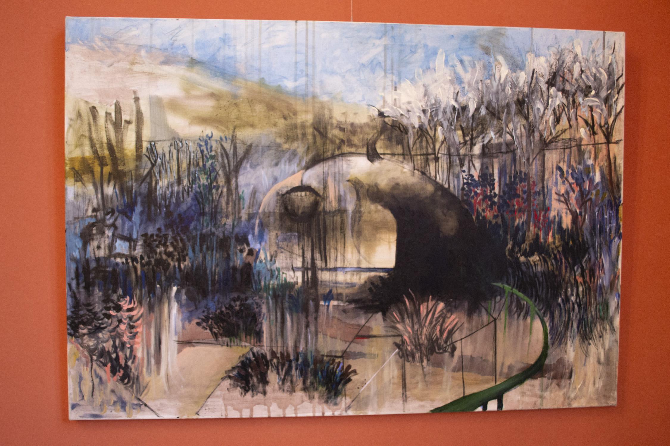 Grădină - Alexandra Câmpianu Inspirată fiind de picturile lui Francis Bacon și folosind o tehnică care-i este dragă, pictura în ulei, Alexandra creează imagini parcă desprinse din universul lui Hieronymus Bosch.